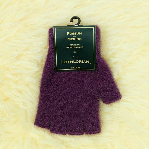 【紫莓】紐西蘭貂毛羊毛手套保暖露指手套 保溫輕量半指手套保暖手套 保暖手套,羊毛手套,半指手套 保暖,露指手套