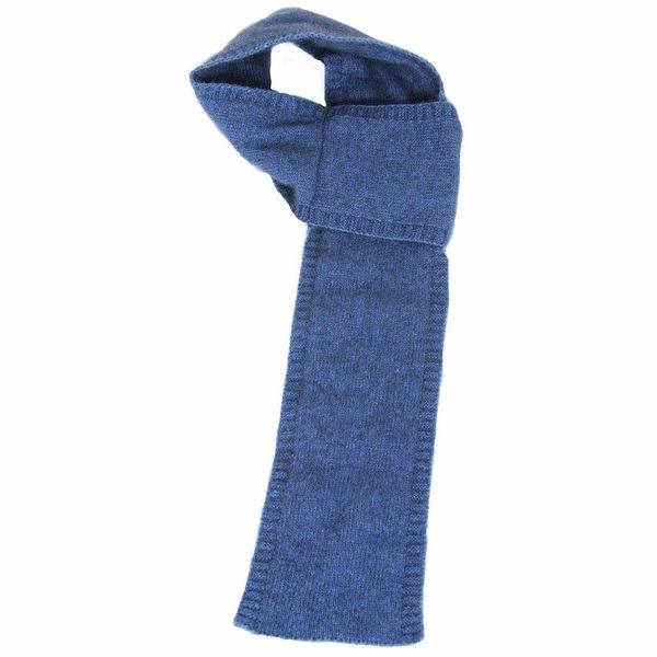 【水藍】紐西蘭貂毛羊毛圍巾(窄版12公分) 輕巧保暖圍巾懶人圍巾-男用女用 保暖圍巾,羊毛圍巾,圍巾
