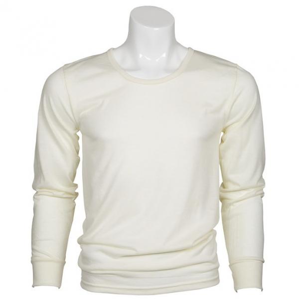 小圓領厚款米白澳洲100%純羊毛衛生衣 MerinoSkins運動型透氣衛生保暖衣衛生衣天然吸濕排汗 羊毛衛生衣,衛生衣,保暖衣,吸濕排汗