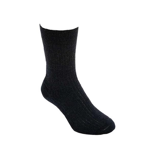 黑色素面紐西蘭美麗諾羊毛襪