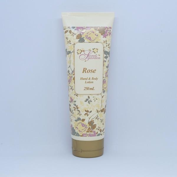 秘密花園浪漫玫瑰精油身體乳液250ml(月見草油) 身體乳液,護手霜