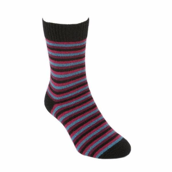 【寶石】多彩條紋紐西蘭貂毛羊毛襪保暖襪 冬季保暖襪休閒襪男用女用 保暖襪,毛襪,羊毛襪,雪地襪