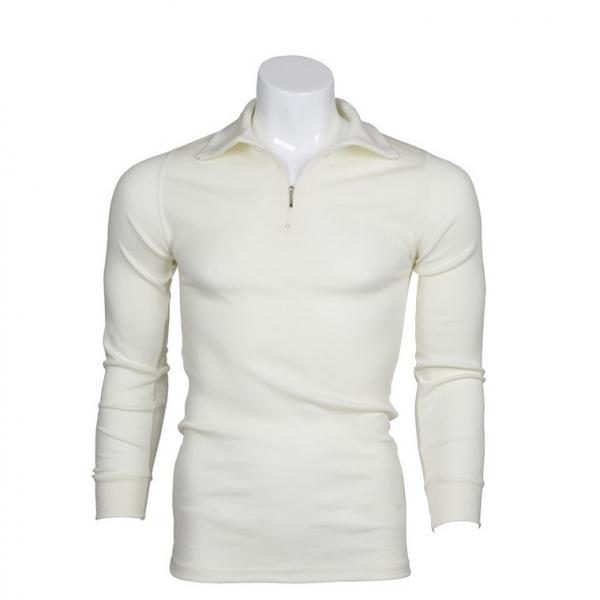 米白厚款澳洲運動型保暖衣100%純羊毛衛生衣 MerinoSkins拉鍊立領長袖黑色(透氣衛生、天然吸濕排汗)