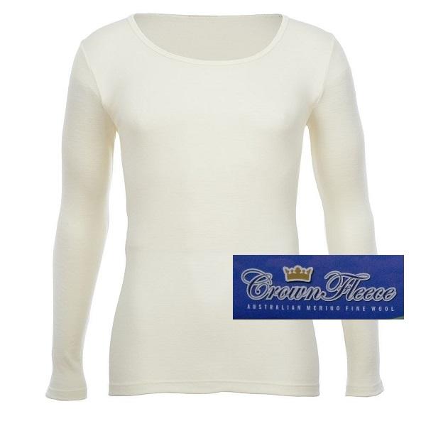光澤輕薄象牙白澳洲頂級皇冠男裝100%純羊毛衛生衣 圓領透氣衛生保暖衣衛生衣天然吸濕排汗 美麗諾羊毛衛生衣,羊毛衛生衣