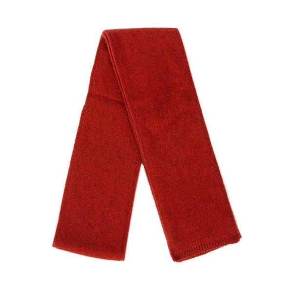 紅色雙層紐西蘭貂毛羊毛圍巾(長180公分) 秋冬保暖圍巾男用女用柔軟蓬鬆輕量