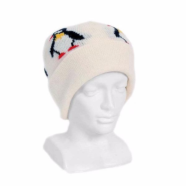 企鵝【米白】紐西蘭100%純美麗諾羊毛帽 雙層冬季保暖帽-登山旅遊居家外出頭部保暖 羊毛帽,保暖帽,登山毛帽推薦,防寒毛帽,毛線帽,雪地毛帽