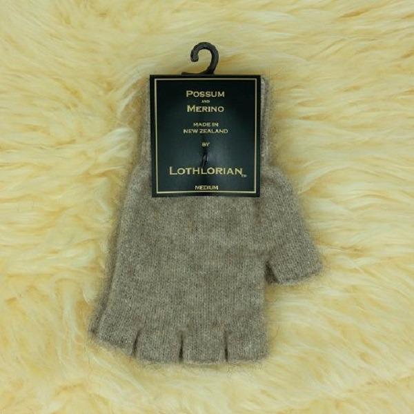 【奶茶】紐西蘭貂毛羊毛手套保暖露指手套 男用女用保溫輕量半指手套保暖 保暖手套,羊毛手套,半指手套,半指手套 保暖,露指手套