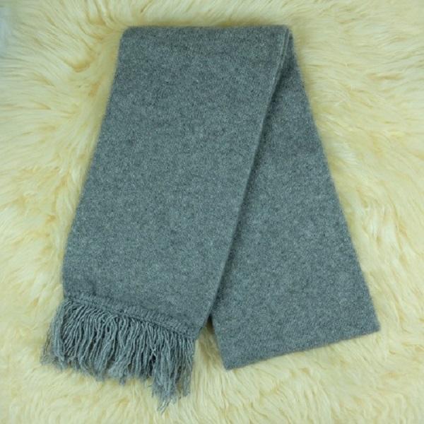 【銀灰】雙層紐西蘭貂毛羊毛圍巾 男用女用保暖圍巾 圍巾,保暖,羊毛,保暖圍巾,羊毛圍巾