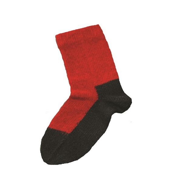 兒童保暖襪【深紅】紐西蘭貂毛羊毛襪(底部黑色)