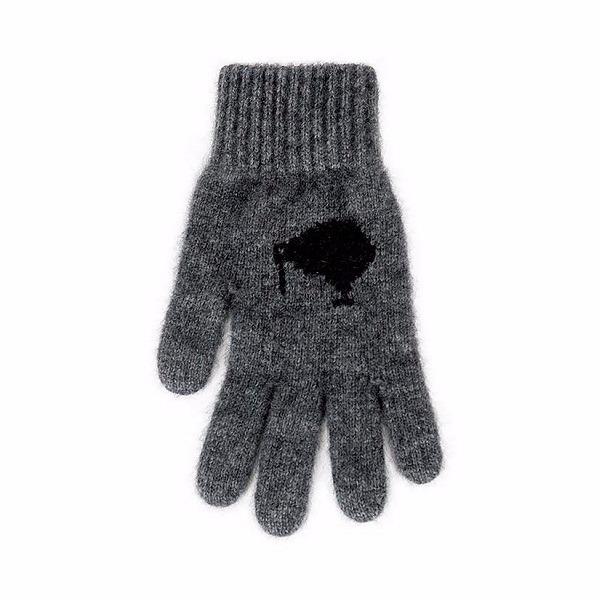 奇異鳥【炭灰】紐西蘭貂毛羊毛手套保暖手套 高保溫輕量男用手套女用手套 羊毛手套,保暖手套,防寒手套,手套男,手套女
