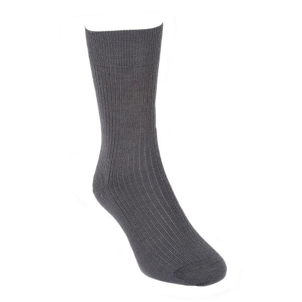 灰色素面紐西蘭美麗諾羊毛襪