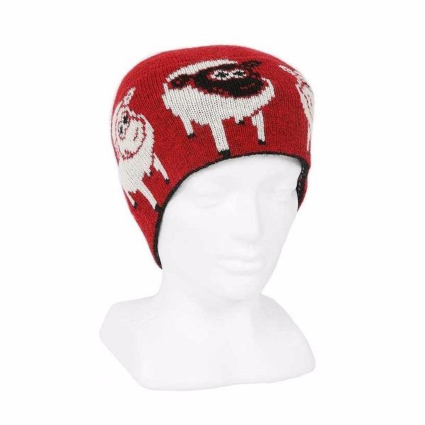 可愛羊【紅】紐西蘭純美麗諾羊毛帽男用女用 保暖帽-登山旅遊居家外出頭部保暖 毛帽,羊毛帽,保暖帽,保暖帽登山,羊毛配件