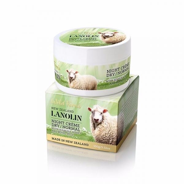 鎖水修護蜂王乳綿羊油晚霜100g乾性肌/中性肌 蜂王乳,q10,紐西蘭綿羊油,晚霜,面霜