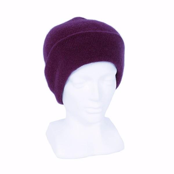 紐西蘭貂毛羊毛帽*紫莓色*雙層保暖帽男用女用 毛帽,保暖帽,羊毛帽,保暖帽推薦,保暖帽登山