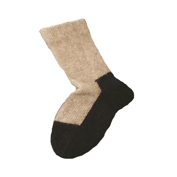 兒童保暖襪【奶茶】紐西蘭貂毛羊毛襪(底部黑色)