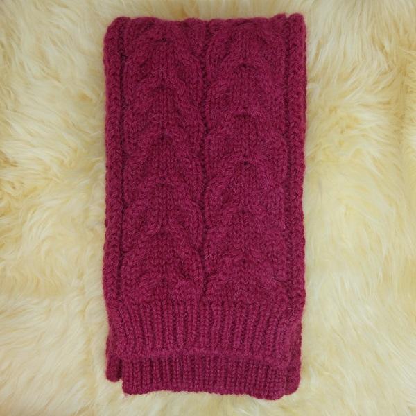 酒紅100%紐西蘭駝羊毛保暖圍巾麻花粗針織 圍巾,保暖,保暖圍巾,羊毛圍巾