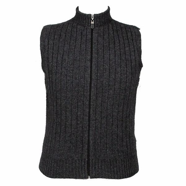 立領拉鍊炭灰色紐西蘭貂毛羊毛背心 保暖背心外套男用女用冬季保暖毛衣推薦