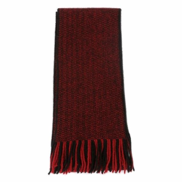 【紅X黑】摩斯配色紐西蘭貂毛羊毛圍巾 雙色粗針織保暖圍巾男用女用 保暖圍巾,羊毛圍巾,圍巾