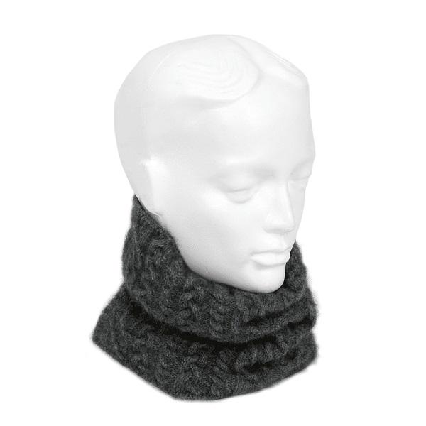 【炭灰】麻花粗針織紐西蘭貂毛羊毛圍脖/保暖頭帶 輕巧保暖環狀圍巾圍脖男用女用 圍脖,保暖頸圍,圍脖哪裡買,頸圍巾
