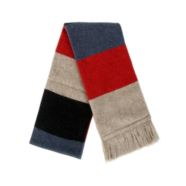 多彩色塊【紅】雙層紐西蘭貂毛羊毛圍巾 特長220公分保暖圍巾男用女用 保暖圍巾,圍巾女,圍巾,羊毛圍巾,圍巾推薦品牌
