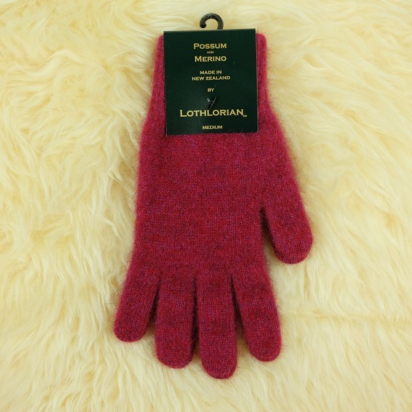 【覆盆子桃紅】紐西蘭貂毛羊毛手套保暖手套 高保溫輕量男用手套女用手套 羊毛手套,保暖手套,防寒手套,手套男,手套女