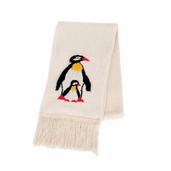 企鵝【米白】紐西蘭美麗諾100%純羊毛圍巾 雙層厚款防寒保暖圍巾女圍巾男 圍巾,羊毛圍巾推薦,保暖圍巾,純羊毛圍巾,羊毛圍巾