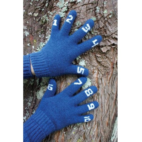 (潟湖藍)兒童數字手套紐西蘭貂毛羊毛保暖手套 保暖,保暖手套,羊毛手套,保暖手套,兒童 保暖 手套,