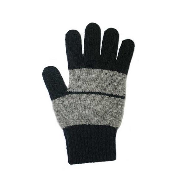 條紋【丹寧X灰】紐西蘭美麗諾純羊毛手套 登山旅遊居家外出保暖手套推薦男用女用 羊毛手套,純羊毛手套,保暖手套,保暖 手套 推薦,防寒手套
