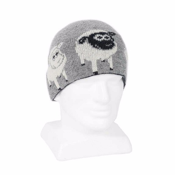 可愛羊【灰】紐西蘭純美麗諾羊毛帽男用女用 保暖帽-登山旅遊居家外出頭部保暖 羊毛帽,保暖帽,登山帽,毛帽,羊毛配件