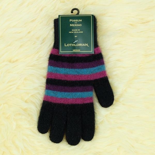 多彩條紋【寶石】紐西蘭貂毛羊毛手套保暖手套 高保溫輕量男用手套女用手套 羊毛手套,保暖手套,防寒手套,手套男,手套女