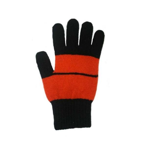 條紋【橘X黑】紐西蘭美麗諾純羊毛手套 登山旅遊居家外出保暖手套推薦男用女用 羊毛手套,純羊毛手套,保暖手套,保暖 手套 推薦,防寒手套