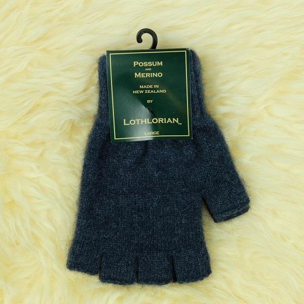 【藍灰丹寧】紐西蘭貂毛羊毛手套保暖露指手套 男用女用保溫輕量半指手套保暖 保暖手套,羊毛手套,半指手套 保暖,露指手套 男,露指手套