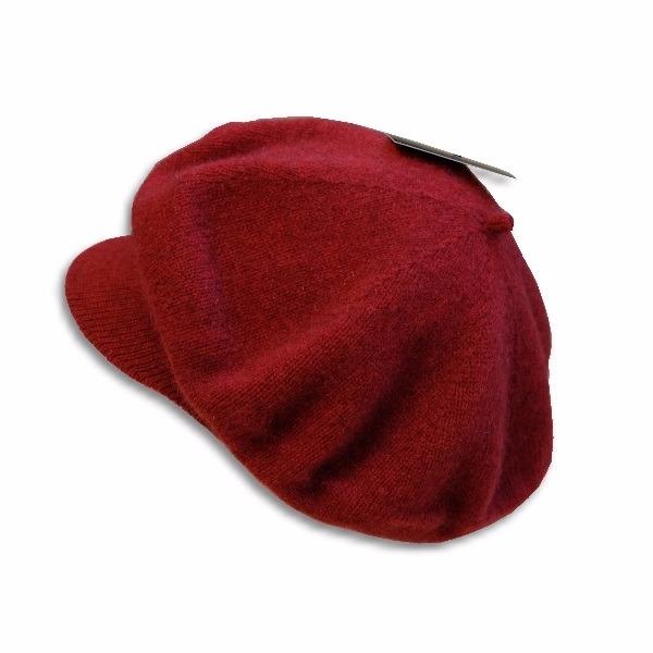 紐西蘭貂毛羊毛帽保暖帽*小帽緣貝蕾帽_深紅色 圓帽,貝蕾帽,毛帽,保暖帽,報童帽