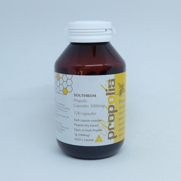 澳洲Southrom蜂膠膠囊食品(丸、粒)1000mg*120顆粒 蜂膠,蜂膠功效,蜂膠膠囊