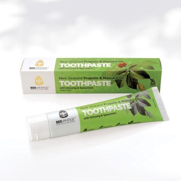 麥蘆卡茶樹精油&綠薄荷人蔘蜂膠牙膏100g 蜂膠,蜂膠牙膏,牙膏