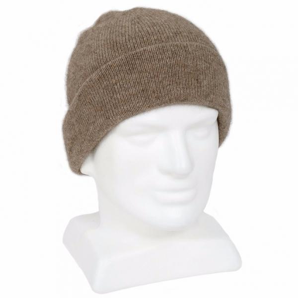 紐西蘭貂毛羊毛帽*奶茶色*雙層保暖帽男用女用 毛帽,登山保暖帽推薦,保暖帽,防寒保暖帽,雪地帽