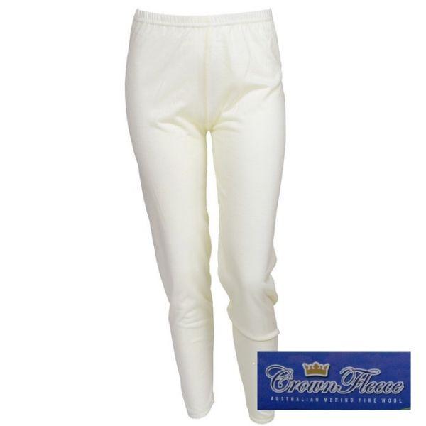 光澤輕薄澳洲皇冠100%純羊毛女衛生長褲米白 羊毛衛生衣,羊毛衛生褲,衛生褲,美麗諾羊毛