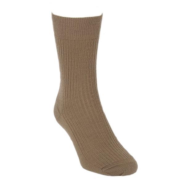 灰褐色素面紐西蘭美麗諾羊毛襪