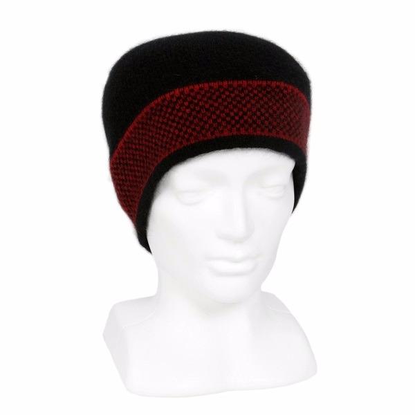 【紅X黑】紐西蘭貂毛羊毛帽保暖帽男用女用 單層薄款-摩斯配色  羊毛配件,毛帽,羊毛帽,保暖帽,保暖帽登山推薦