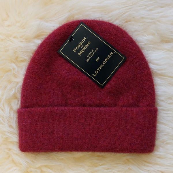 紐西蘭貂毛羊毛帽*覆盆子色*雙層保暖帽男用女用 保暖帽,保暖帽男,保暖帽女,羊毛帽