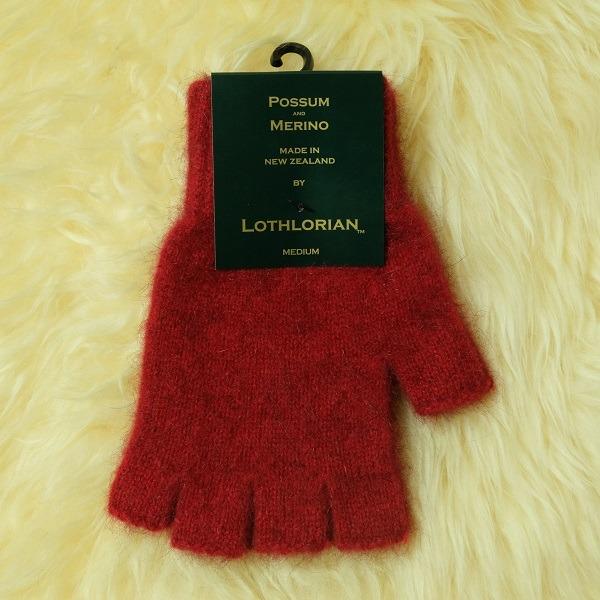 【深紅】紐西蘭貂毛羊毛手套保暖露指手套 男用女用保溫輕量半指手套保暖 露指手套,半指手套 保暖,半指手套,羊毛手套,保暖手套