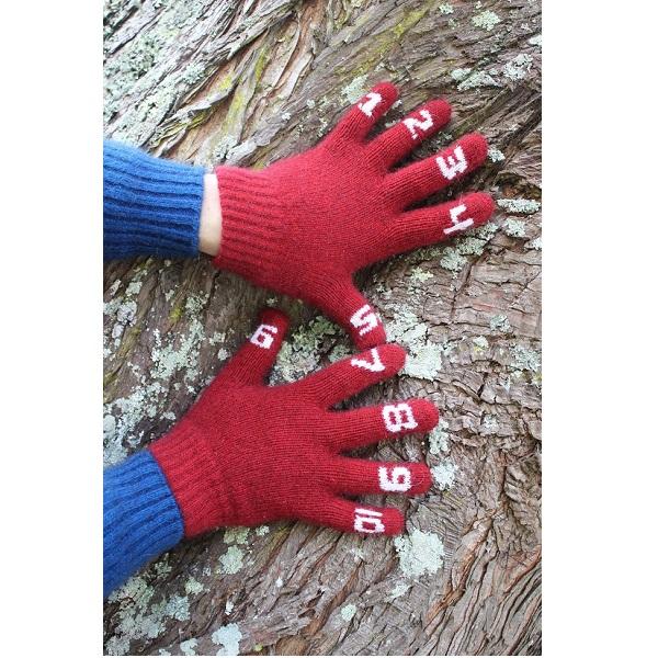 (紅色)兒童數字手套紐西蘭貂毛羊毛保暖手套 保暖,保暖手套,羊毛手套,保暖手套,兒童 保暖 手套,