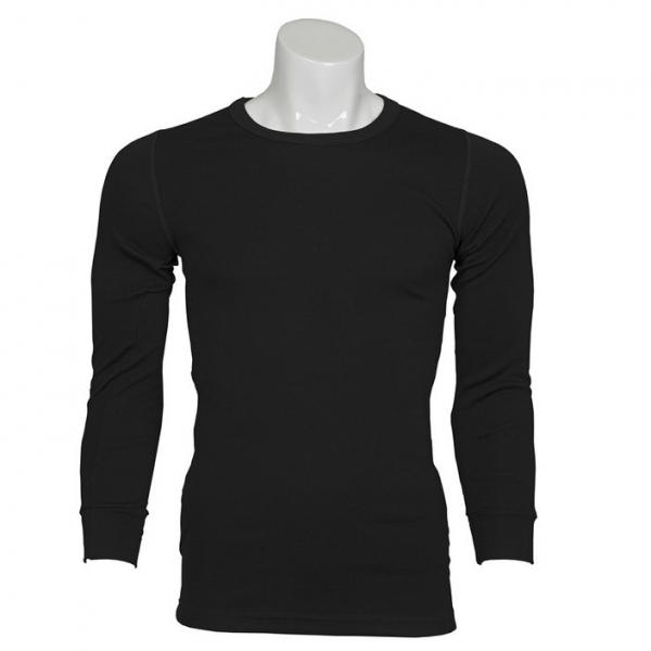 小圓領厚款黑色澳洲100%純羊毛衛生衣 MerinoSkins運動型透氣衛生保暖衣衛生衣天然吸濕排汗