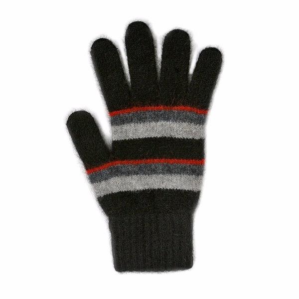 粗細條紋【紅炭灰黑】紐西蘭貂毛羊毛手套保暖手套 高保溫輕量男用手套女用手套 羊毛手套,保暖手套,防寒手套,手套男,手套女