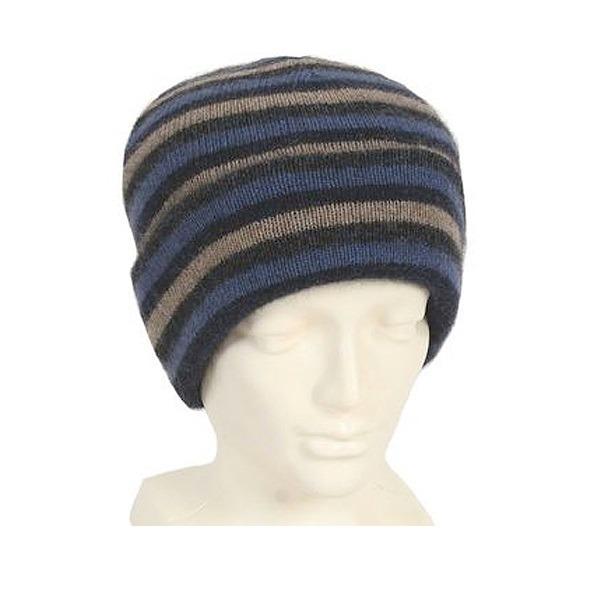 多彩條紋【水藍】紐西蘭貂毛羊毛帽 雙層保暖帽-男用女用 毛帽,登山保暖帽推薦,保暖帽,防寒保暖帽,雪地帽
