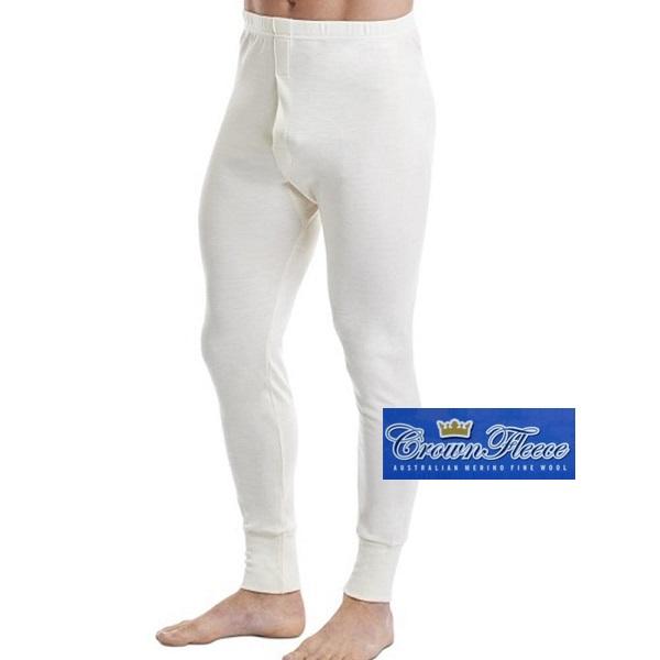 厚款米白澳洲皇冠男裝100%純羊毛衛生褲 羊毛衛生衣,羊毛衛生褲,衛生褲,美麗諾羊毛