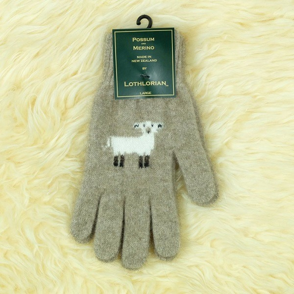 羊咩咩【奶茶】紐西蘭貂毛羊毛手套保暖手套 高保溫輕量男用手套女用手套 羊毛手套,保暖手套,防寒手套,手套男,手套女