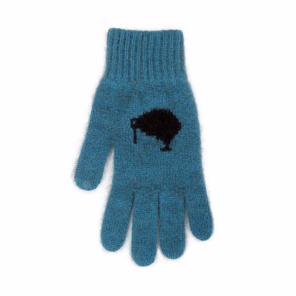 奇異鳥【藍綠】紐西蘭貂毛羊毛手套保暖手套 高保溫輕量男用手套女用手套 羊毛手套,保暖手套,防寒手套,手套男,手套女
