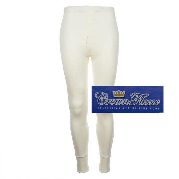 光澤輕薄長褲澳洲皇冠男裝100%純羊毛衛生褲象牙白 羊毛衛生衣,羊毛衛生褲,衛生褲,美麗諾羊毛