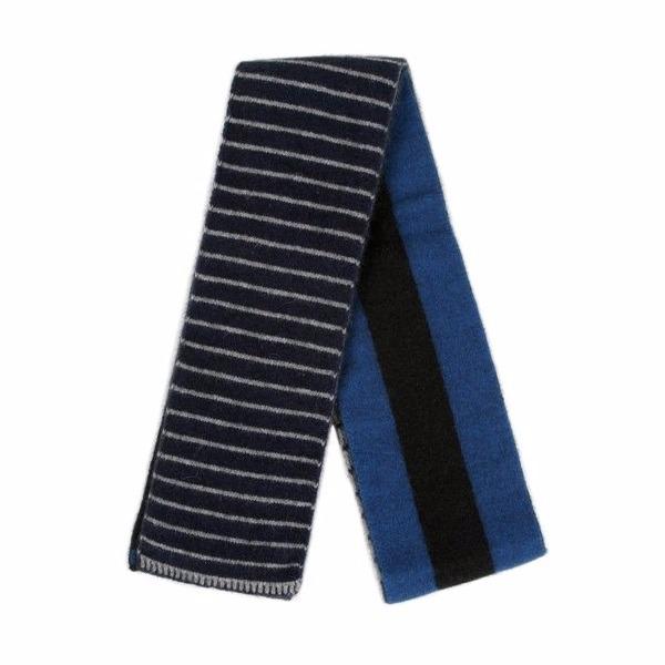 【藍灰黑】雙面條紋紐西蘭貂毛羊毛圍巾 雙層保暖圍巾男用女用 羊毛圍巾推薦,保暖圍巾,羊毛圍巾